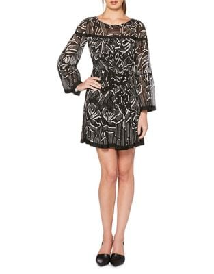 Abstract Tasseled Dress by Laundry by Shelli Segal