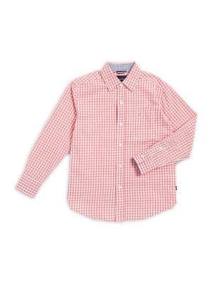 Boys Gingham ButtonDown Shirt