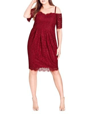 Plus Amour Floral Lace Dress by City Chic