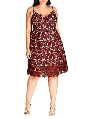 Plus So Fancy Cotton Dress by City Chic