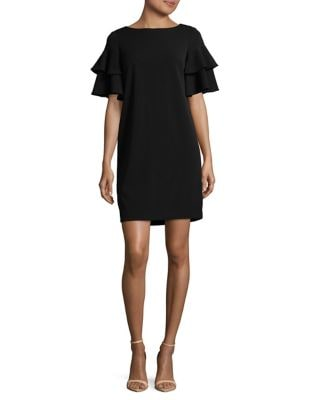 Bell-Sleeve Shift Dress by Calvin Klein