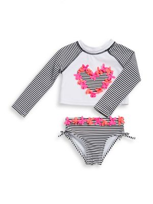 Little Girls TwoPiece Bikini Top And Bottom Set