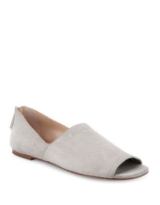 Maxine Suede Open Toe Flats by Botkier New York