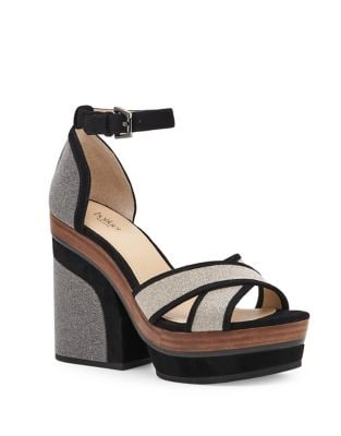 Paloma Textured Leather Platform Sandals by Botkier New York