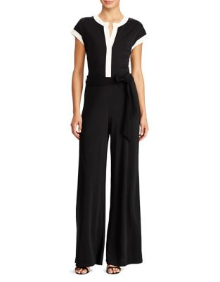 Two-Tone Jersey Jumpsuit...