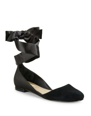 Pattie Suede Ankle-Strap Flats by 424 Fifth