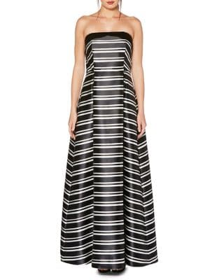 Striped Ballgown by Laundry by Shelli Segal
