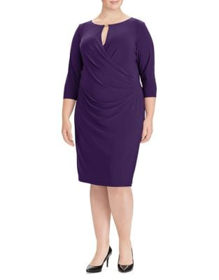 Plus Ruched Jersey Sheath Dress by Lauren Ralph Lauren