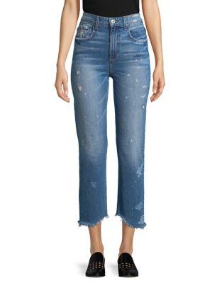 Distressed Crop Jeans 500087843346