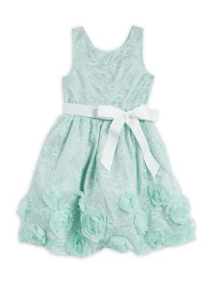 Little Girls Embellished Lace Dress