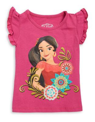 Little Girl's Ruffled-Sleeve...
