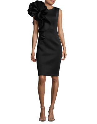Ruffled Knee-Length Dress by Betsy & Adam