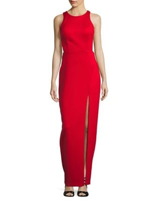 Front Slit Floor-Length Dress by Betsy & Adam