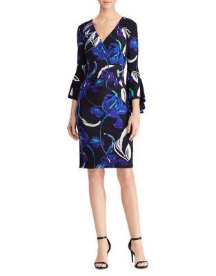 Photo of Jersey Bell-Sleeve Dress by Lauren Ralph Lauren - shop Lauren Ralph Lauren dresses sales