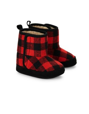 Baby Boys Plaid Boots