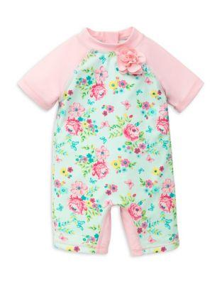 Baby Girl's Floral Rashguard...
