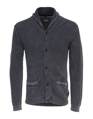 Washed Knit Cotton Cardigan...