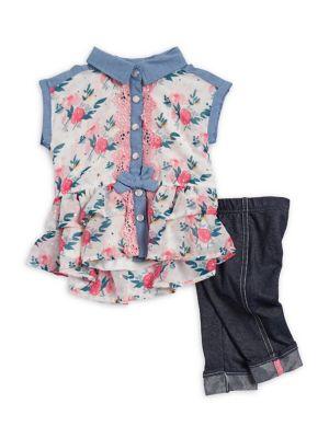 Baby Girls TwoPiece Floral Capri Set