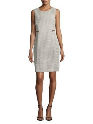 Plus Chevron Jacquard Dress 500087858363