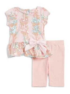 Baby Girls TwoPiece Top and Pants Set