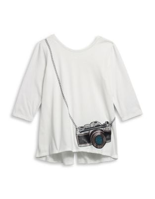 Girls Libra Camera Purse Tee