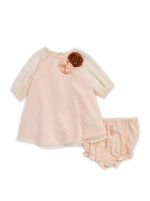Baby Girls TwoPiece Heart Dress and Bottom Set
