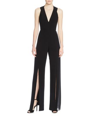 Crepe V-Neck Jumpsuit 500087864533