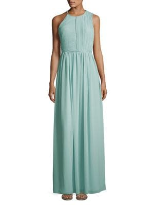 Plisse Fortuny Ruched Gown 500087864557