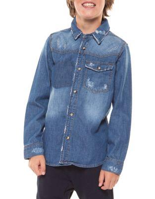 Boy's Denim Collared Shirt 500087869531