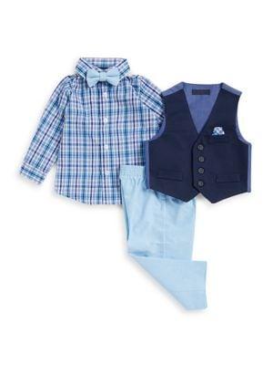 Baby Boys ThreePiece Vest Shirt and Pant Set