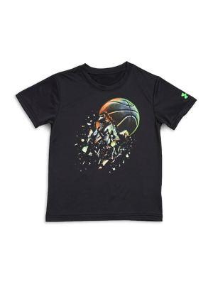 Little Boys Basketball Explosion Tee