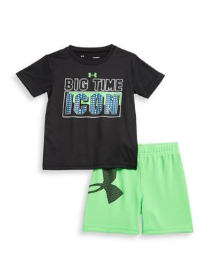 Baby Boys TwoPiece Big Time Icon Tee and Bottom Set