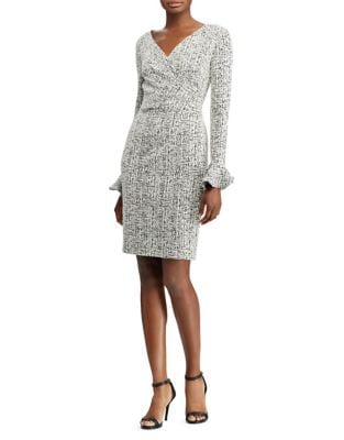 Marble-Print Sheath Dress by Lauren Ralph Lauren