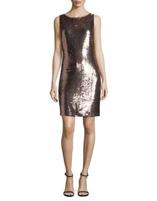 Sleeveless Sequin Sheath Dress by BB Dakota