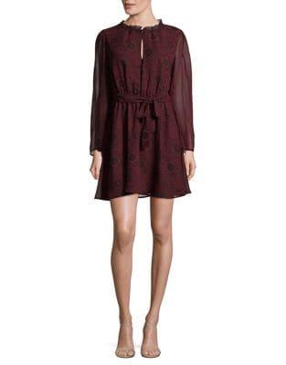 Printed Long-Sleeve Dress by BB Dakota