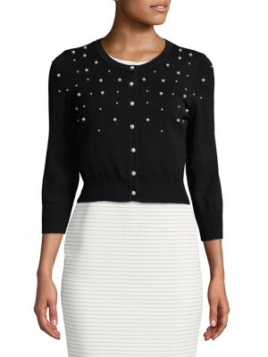 Pearl-Trimmed Crop Top by Karl Lagerfeld Paris