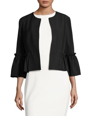 Bell-Sleeve Cropped Jacket by Eliza J