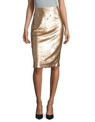 Metallic Pencil Skirt by Eliza J