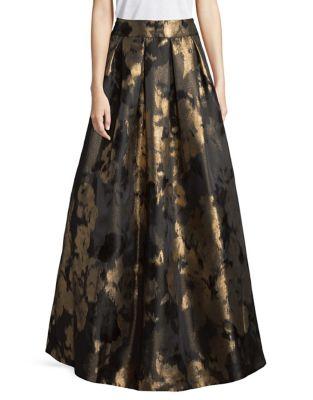 Brocade Pleated Ball Skirt by Eliza J