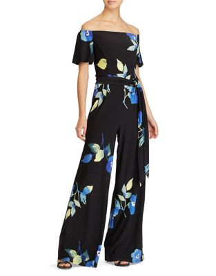 Off-the-Shoulder Wide-Leg Jumpsuit by Lauren Ralph Lauren