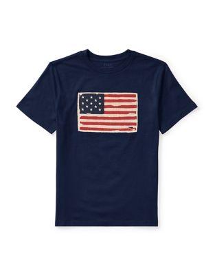Boys Flag Cotton Jersey Tee