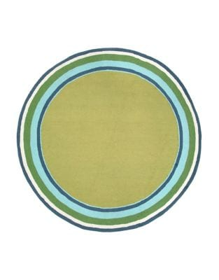Newport Multi Sage Seaside Round Indoor and Outdoor Rug