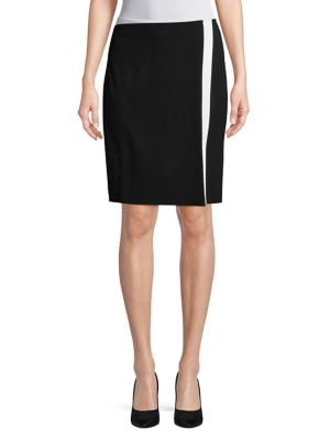 Two-Tone Pencil Skirt...