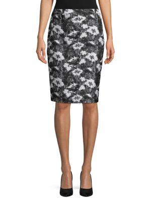 Graphic Brocade Skirt...