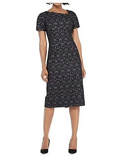 Maggy london v-neck black lace dress