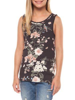 Girls FloralPrinted Tank Top