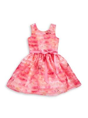 Little Girl's Floral Striped Dress 500087906291