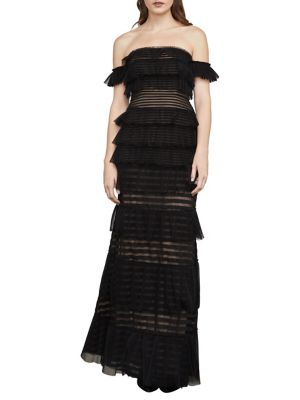 Elora Off-The-Shoulder Lace Gown 500087908818