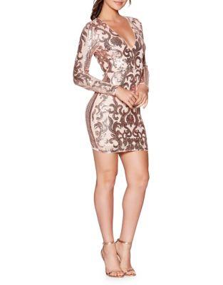 Sequin Mini Bodycon Dress by QUIZ