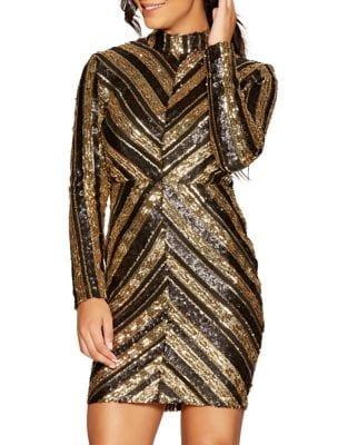 Sequin Mini Dress by QUIZ